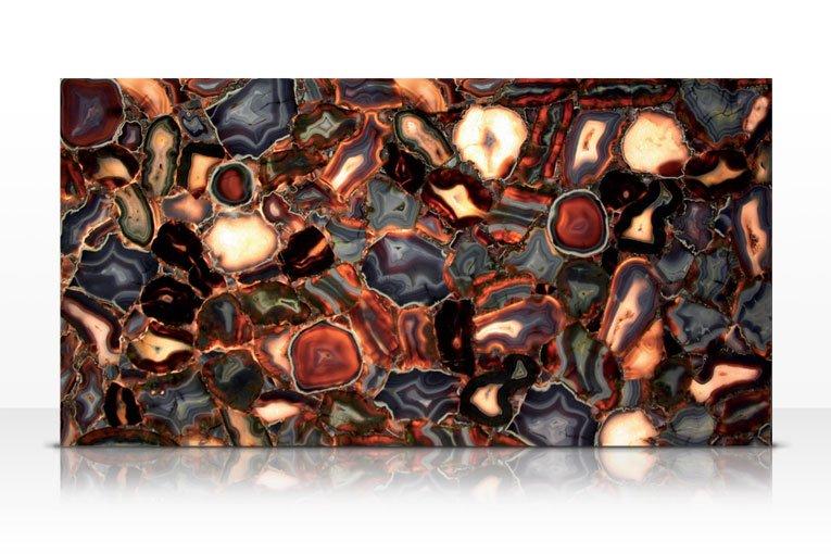 Agatona backlit galleria of stone arizona for Azerocare