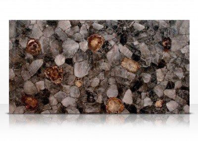 Fossilized smoky quartz
