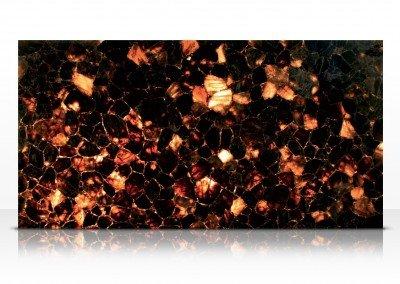 Smoky quartz dark backlit