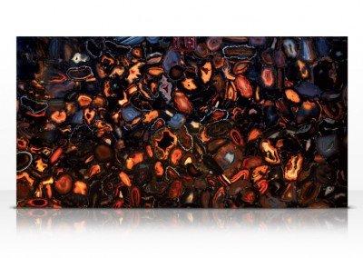 Wild agate black backlit