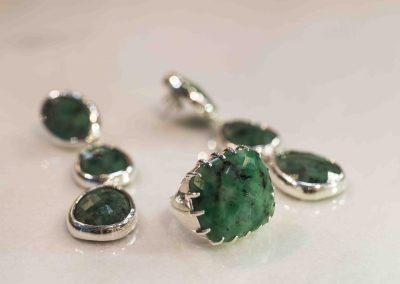 Icon Ring and Earrings- Esmeralda